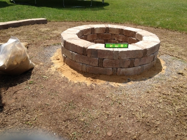 Alluring Home Depot Stone Fire Pit Finished Fire Pit Rumble Stone From Home Depot Backyard Patio