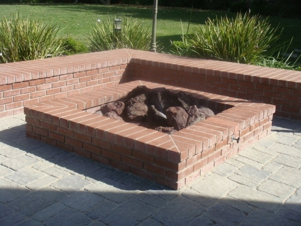 Alluring Square Brick Fire Pit Home Design How To Build A Square Brick Fire Pit Fireplace