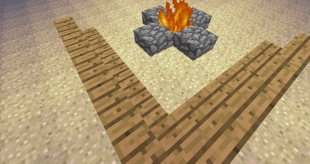 Amazing Minecraft Fire Pit How To Build Stuff In Minecraft Fire Pit Youtube