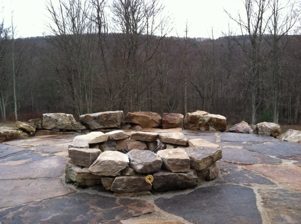 Awesome Boulder Fire Pit Boulder Fire Pit But With Real Wood Mine Would Be On Grass