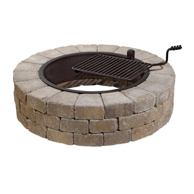 Awesome Home Depot Stone Fire Pit Necessories Grand 48 In Fire Pit Kit In Santa Fe With Cooking