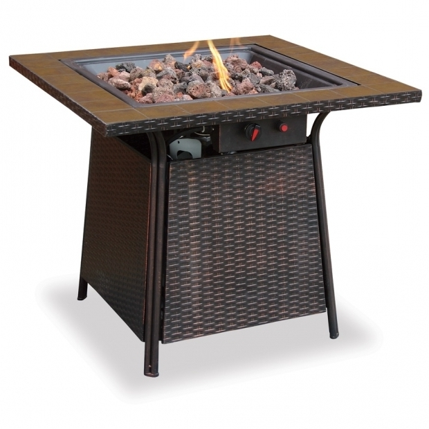 Beautiful Blue Rhino Propane Fire Pit Shop Blue Rhino 32 In W 30000 Btu Brown Steel Liquid Propane Fire