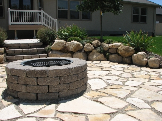 Beautiful Limestone Fire Pit Backyard Firepit Contractor Kurt