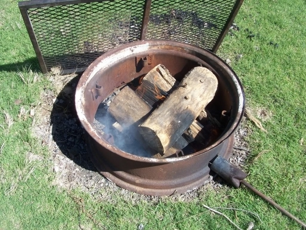 Beautiful Tractor Wheel Fire Pit Cowgirls Country Life April 2012