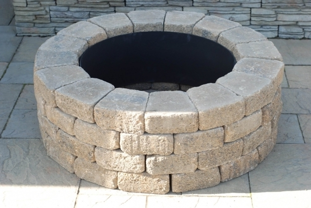 Beautiful Wood Burning Stone Fire Pit Kit Brick Fire Rings Nantucket Pavers 71004 Concrete Ashford Fire