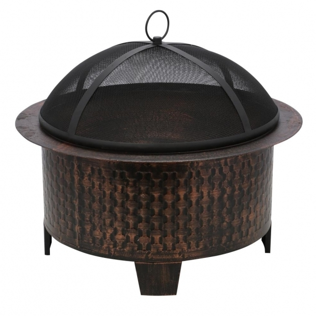 Delightful Heavy Duty Cast Iron Fire Pit Cobraco Woven Base Cast Iron Fire Pit Fbciwoven Bz The Home Depot