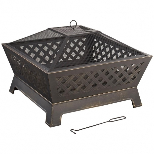 Delightful Home Depot Fire Pit Table Hampton Bay Crossfire 2950 In Steel Fire Pit With Cooking Grate