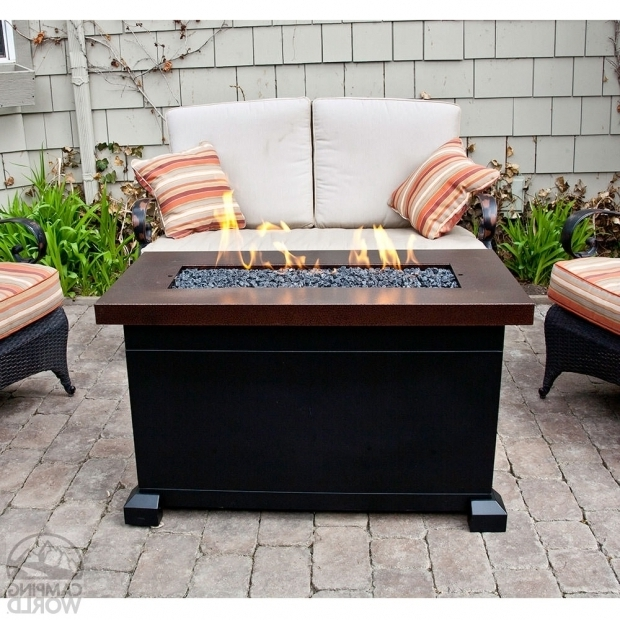 Rectangular Propane Fire Pit Table