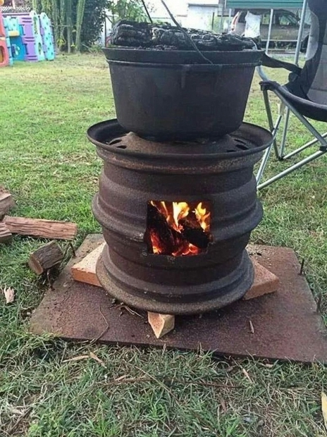 Delightful Tractor Wheel Fire Pit How To Make Recycled Car Wheel Fire Pit Diy Crafts Handimania