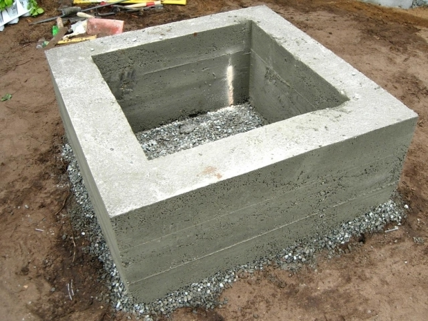 Fantastic Cement Fire Pit How To Make A Concrete Fire Feature How Tos Diy