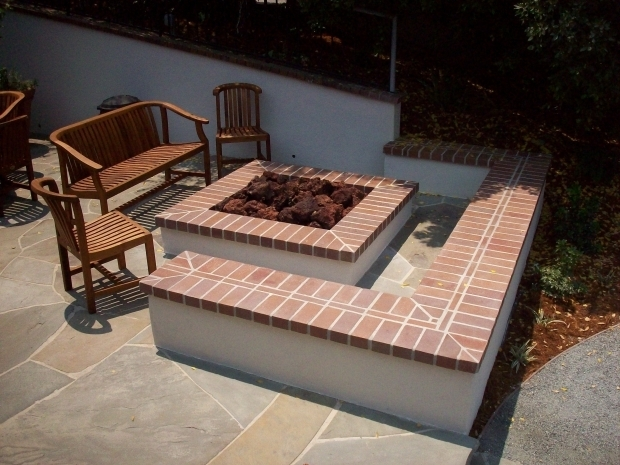 Square Fire Pit Designs : Square brick fire pit ideas