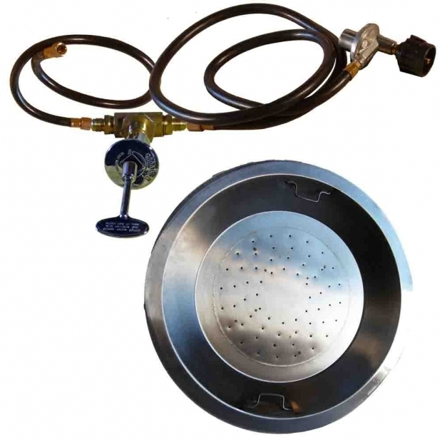 Fascinating Fire Pit Burner Kits Fire Pit Burner Pan 24 Round Drop In