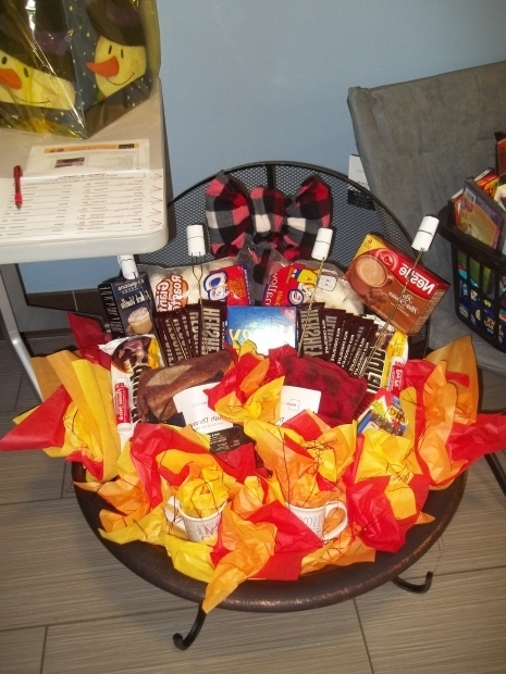 Fascinating Fire Pit Gift Basket Made This For A Fundraiser Silent Auction Its Consist Of A Fire