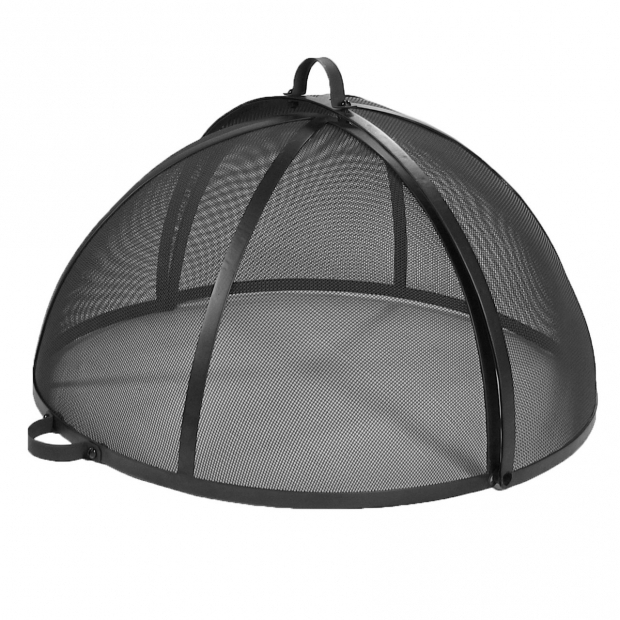 Gorgeous Fire Pit Screen Cover Fire Pit Spark Screen Easy Access Heavy Duty Steel Mesh