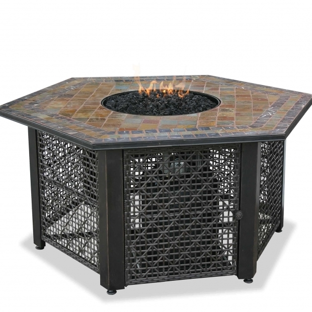 Image of Blue Rhino Propane Fire Pit Blue Rhino Propane Gas Slate Fire Pit Table Dfohome
