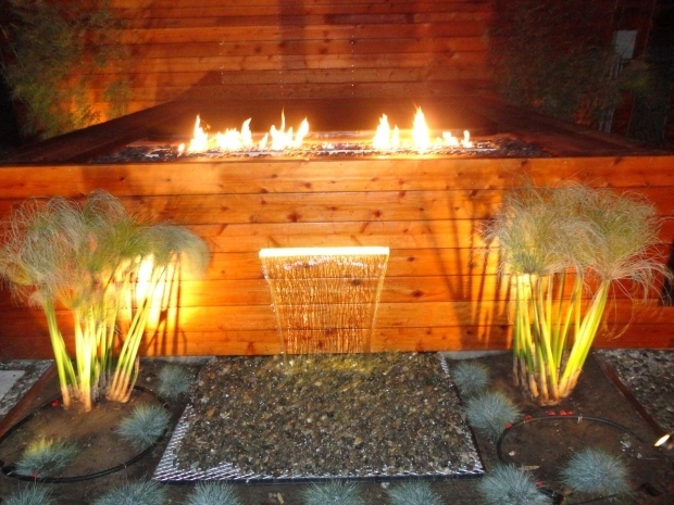 Image of Fire Pit Crystals Custom Fire Pit With Fire Crystals And Water Feature Within Spas