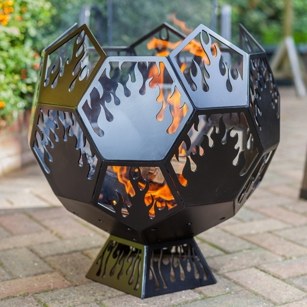 Image of Fire Pit Globe Geodesic Globe Fire Pit Dd Metal Products Limited