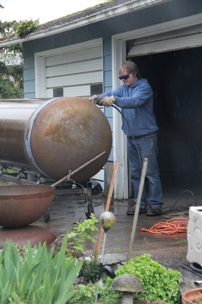 Fire Pit Made From Propane Tank