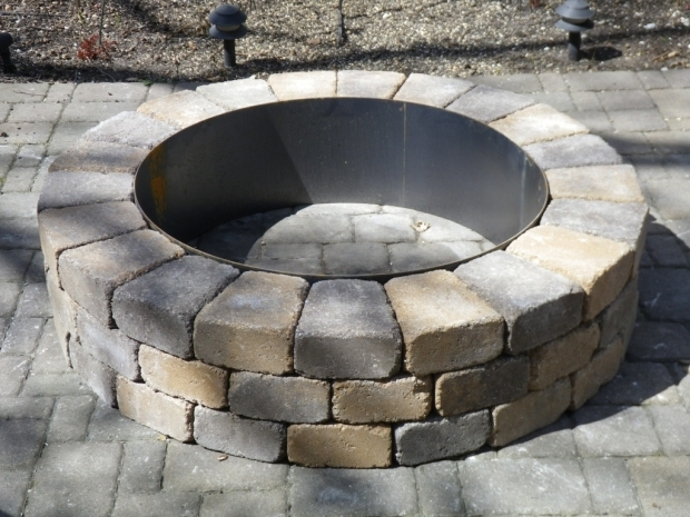 Image of Fire Pit Ring Insert Fire Pit Ring With Exterior Fire Pits And Fire Rings Pinterest