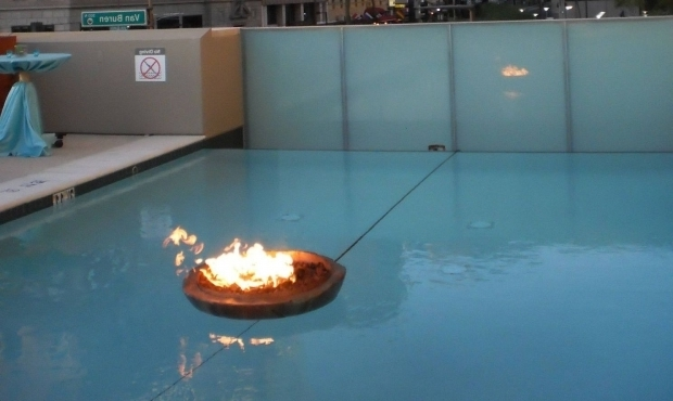 Image of Floating Fire Pit Encore Floating Fire Pit Urban Encore Creative