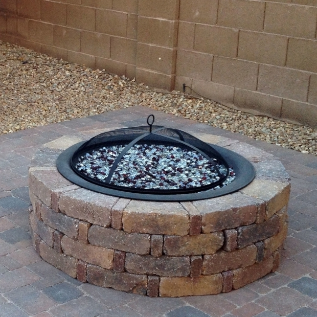 Image of How To Make A Fire Glass Pit Diy Propane Fire Pit Stuffandymakes