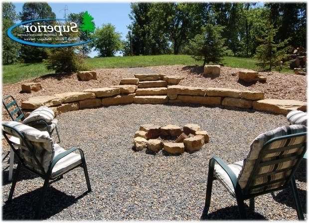 Image of Limestone Fire Pit Natural Fire Pit Area With Limestone Walls And Crushed Trap