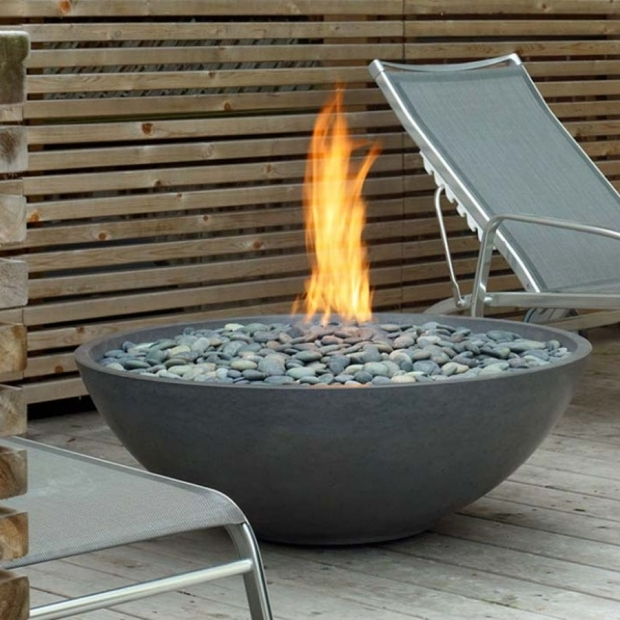 Image of Paloform Fire Pit Paloform Miso Modern Round Outdoor Fire Pit Stardust