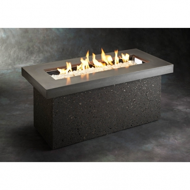 Image of Rectangular Propane Fire Pit Table Outdoor Greatroom Key Largo Fire Pit Table Walmart