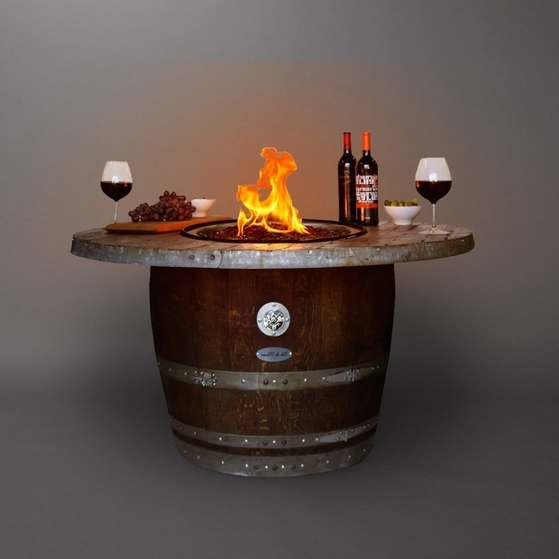 Image of Wine Barrel Fire Pit Table Wine Barrel Fire Pit Table Tlsplant