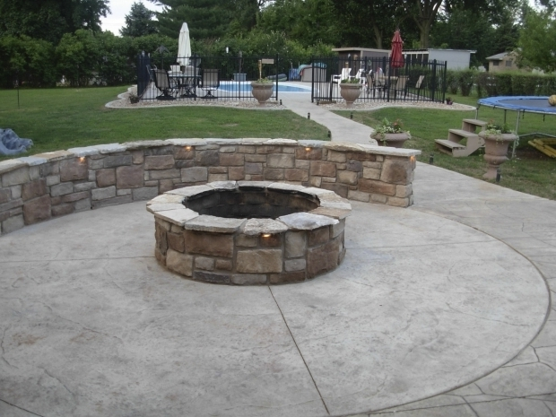 Incredible Stamped Concrete Patio With Fire Pit Accessorize Your Patio With  A Concrete Fire Pit Design