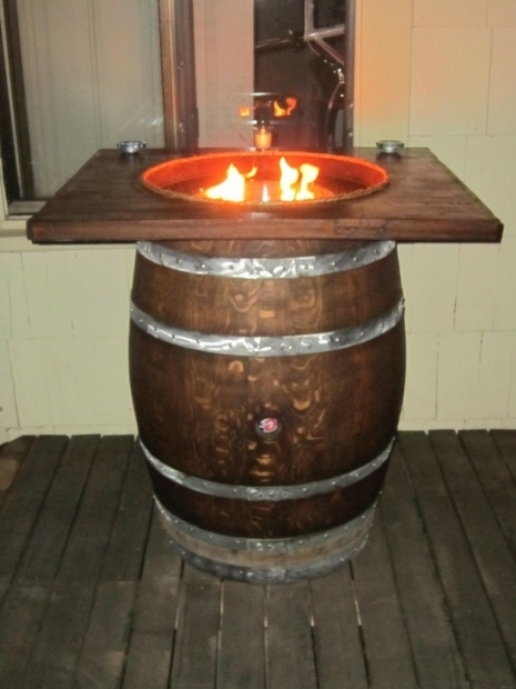 Inspiring Wine Barrel Fire Pit Table Full Size Wine Barrel Fire Pitstave Designs