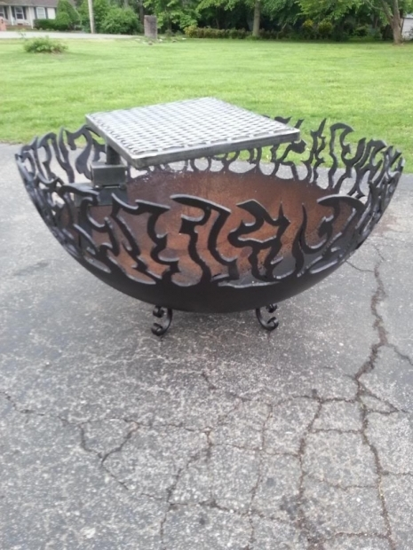 Marvelous Fire Pit Made From Propane Tank Fire Pits From Propane Tank Ends