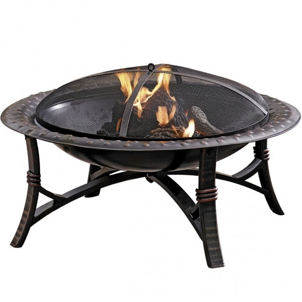Marvelous Fire Pits At Lowes Shop Garden Treasures 35 In W Blackhigh Temperature Painted Steel