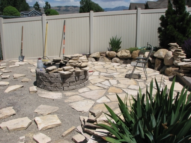 Marvelous Limestone Fire Pit Backyard Firepit Contractor Kurt