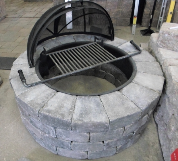 Marvelous Outdoor Fire Pit Covers Patio Ideas Gas Fire Pit Kits With Round Stoned Fire Pit Shaped