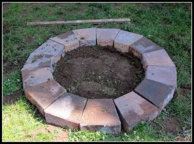 Marvelous Pavers For Fire Pit Homeroad Building A Fire Pit
