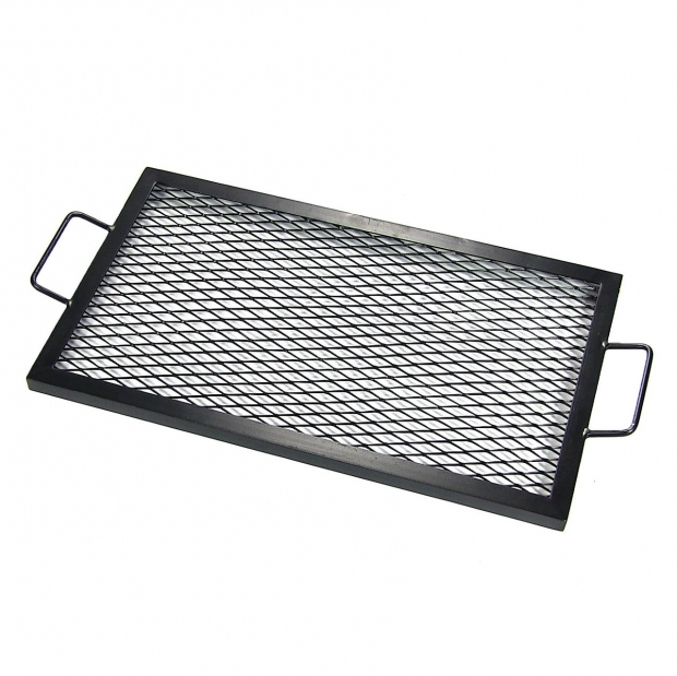 Outstanding Fire Pit Tray X Marks Rectangle Fire Pit Cooking Grill Durable Steel Black