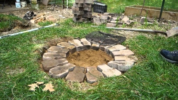 Outstanding How To Build A Fire Pit Cheap Building A Cheap Firepit Youtube