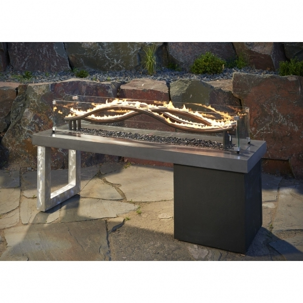 Outstanding Outside Gas Fire Pit Natural Gas Outdoor Fireplaces Fire Pits Youll Love Wayfair