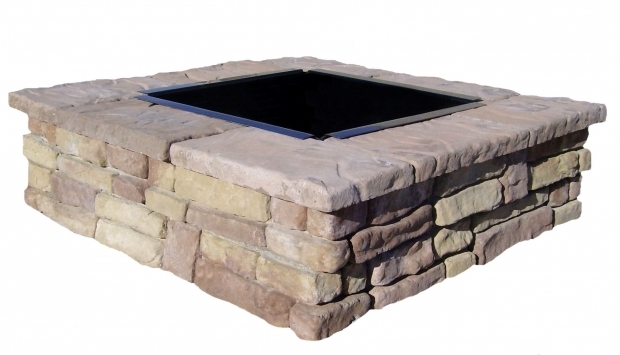 Outstanding Stone Fire Pit Kits Square Fire Pit Kits Natural Concrete Products