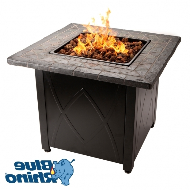Picture of Blue Rhino Propane Fire Pit Propane Fire Pit Table Outdoor Table Blue Rhino Home Design