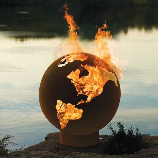 Picture of Fire Pit Globe The Athletes Village Fire Pit Globe Hammacher Schlemmer