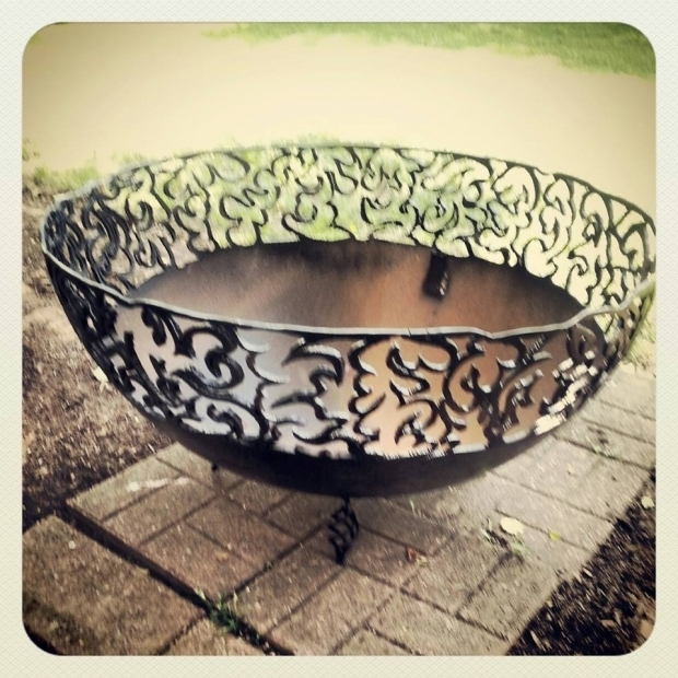 Picture of Fire Pit Made From Propane Tank Fire Pits From Propane Tank Ends