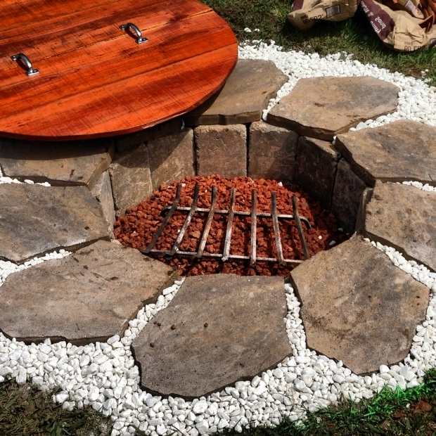 Picture of Homemade Fire Pit Ideas Homemade Fire Pit With Redwood Lid Built From Scratch Using