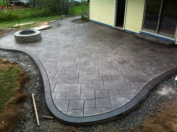 Remarkable Stamped Concrete Patio With Fire Pit Stamped Concrete Patios Driveways Walkways Columbus Ohio