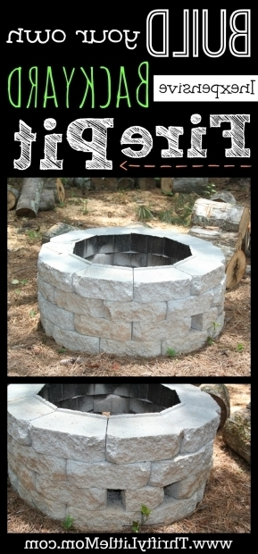 Stunning How To Build A Fire Pit Cheap Easy Diy Inexpensive Firepit For Backyard Fun Thrifty Little Mom