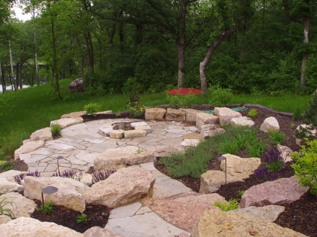 Stunning Limestone Fire Pit Limestone Outcropping And Flagstone Patio And Firepit Winco