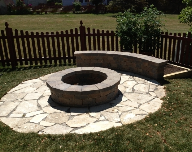 Stylish Limestone Fire Pit Custom Fire Pit With Limestone Base And Small Seating Wall