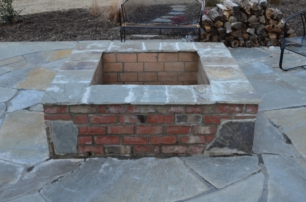 Stylish Square Brick Fire Pit Astonishing Square Brick Fire Pit Designs Garden Landscape