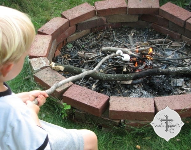 Wonderful How To Make A Brick Fire Pit Diy Fire Pit From Reclaimed Brick Prodigal Pieces